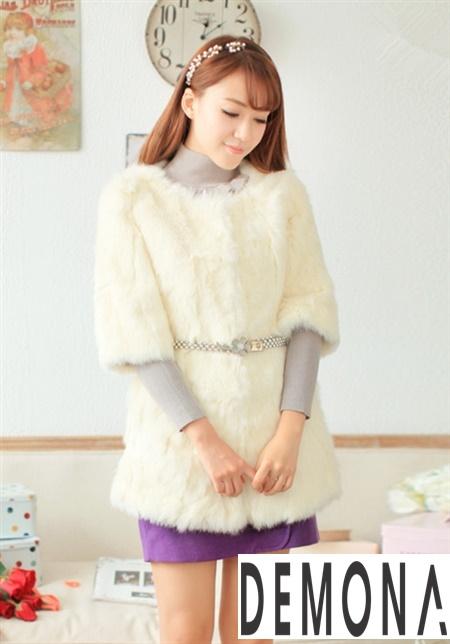 Áo khoác lông nữ màu trắng công sở đẹp thu đông 2019 – 2021 ấm áp phần 11