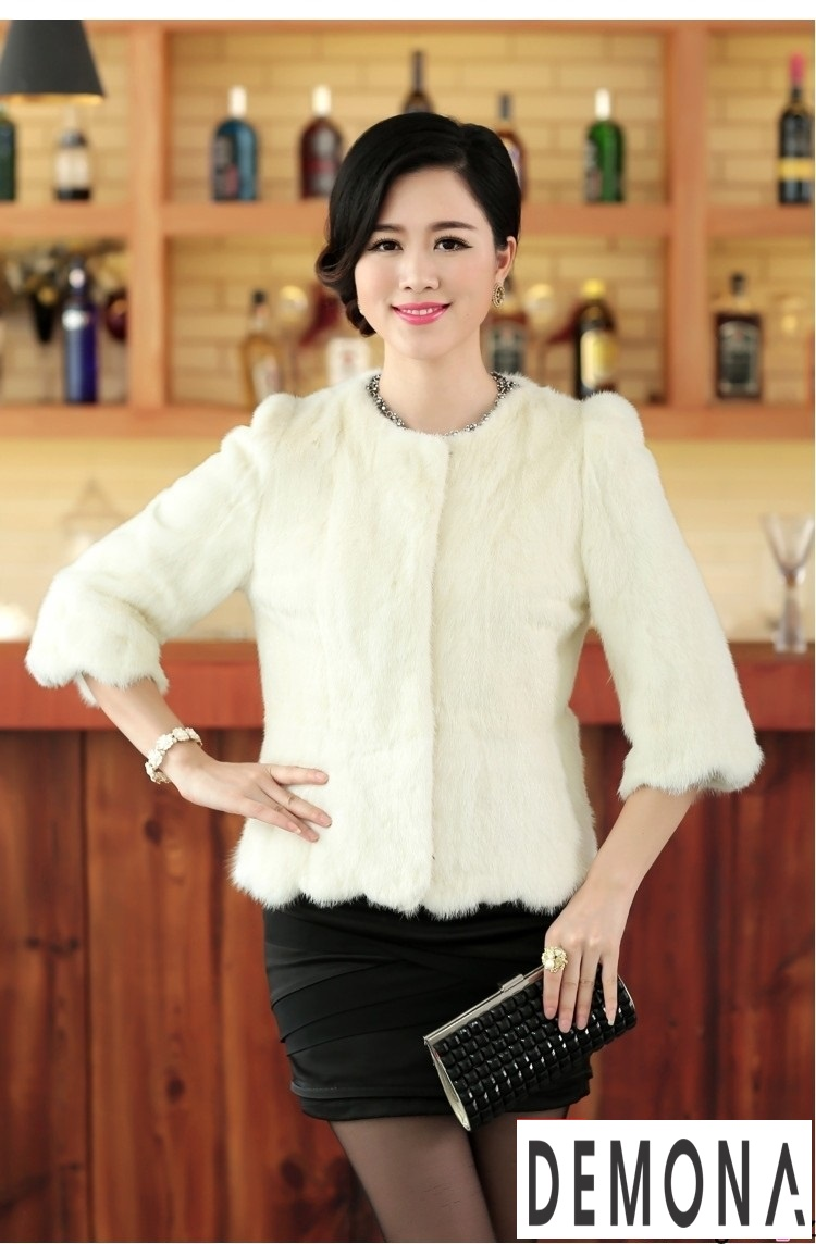 Áo khoác lông nữ màu trắng công sở đẹp thu đông 2019 – 2021 ấm áp phần 3