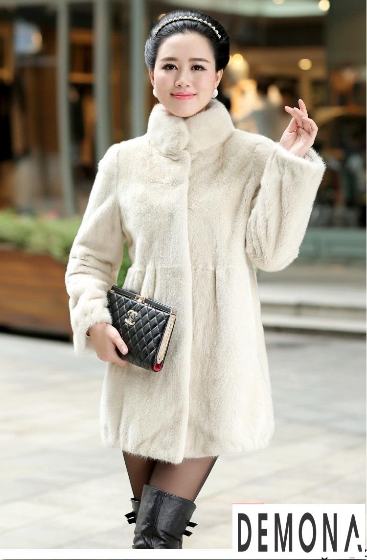 Áo khoác lông nữ màu trắng công sở đẹp thu đông 2019 – 2021 ấm áp phần 6