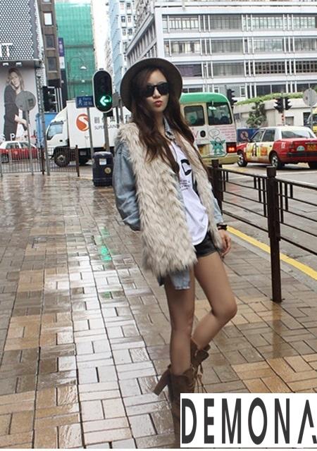 Áo khoác lông nữ nhẹ đẹp thu đông 2019 – 2021 kiểu hàn quốc sành điệu phần 7