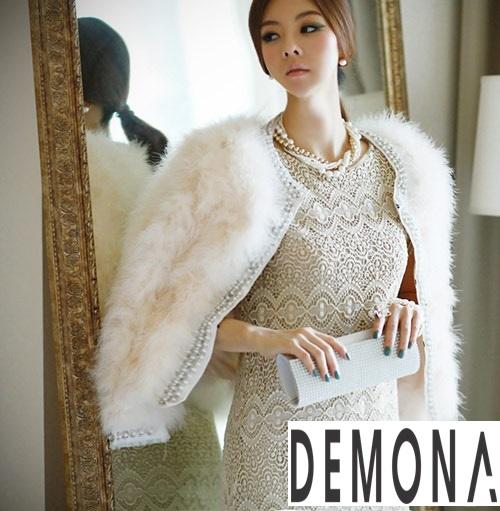 Áo khoác lông nữ trắng đẹp thu đông 2019 – 2021 thanh lịch ấm áp phần 11