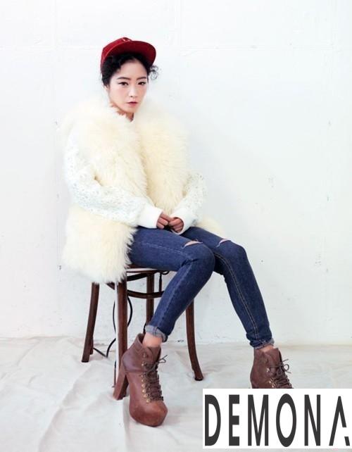 Áo khoác lông nữ trắng đẹp thu đông 2019 – 2021 thanh lịch ấm áp phần 4