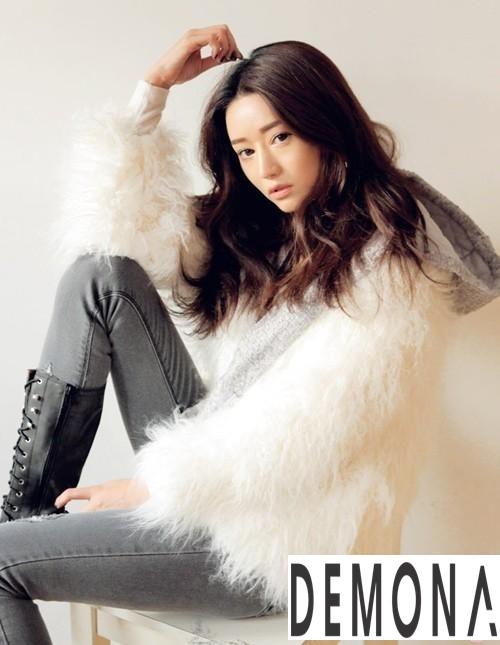 Áo khoác lông nữ trắng đẹp thu đông 2019 – 2021 thanh lịch ấm áp phần 5