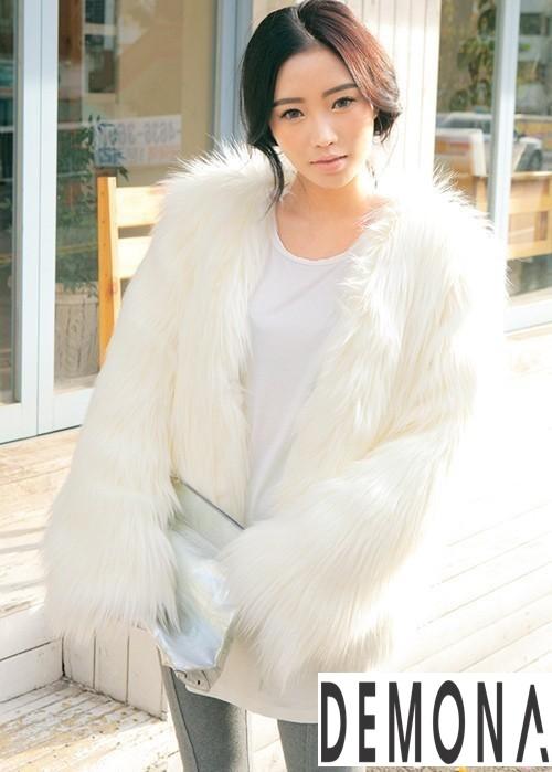 Áo khoác lông nữ trắng đẹp thu đông 2019 – 2021 thanh lịch ấm áp phần 6