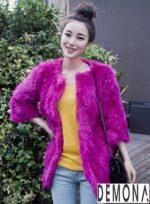 Áo khoác lông thú nữ đẹp của sao hàn quốc thu đông 2021 – 2022