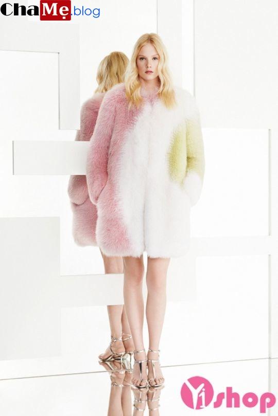 Áo khoác lông thú nữ đẹp siêu nhẹ không lạnh đông 2021 - 2022