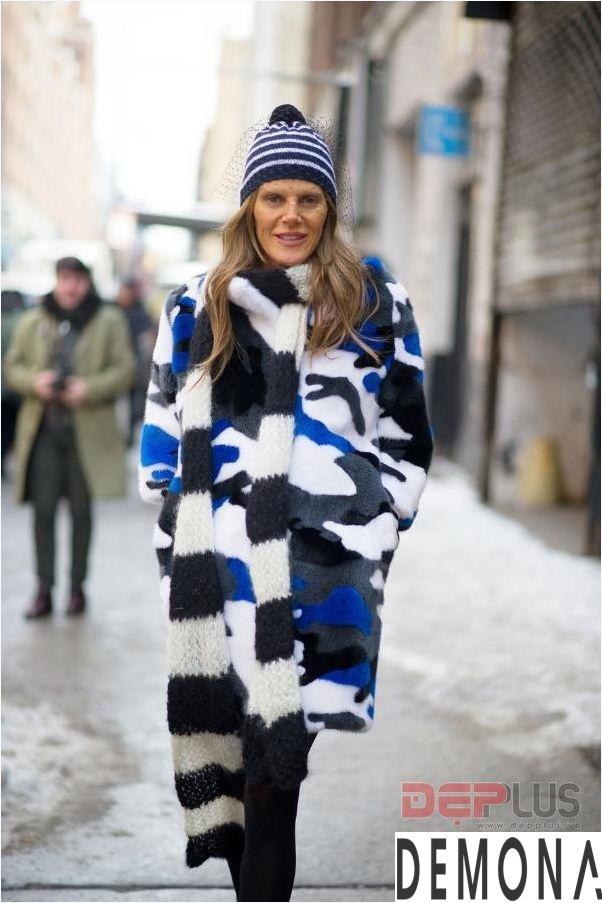 Áo khoác lông thú nữ đẹp thu đông 2021 - 2022 thời trang dạo phố phần 10