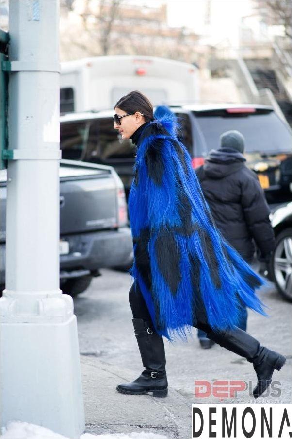 Áo khoác lông thú nữ đẹp thu đông 2021 - 2022 thời trang dạo phố phần 11