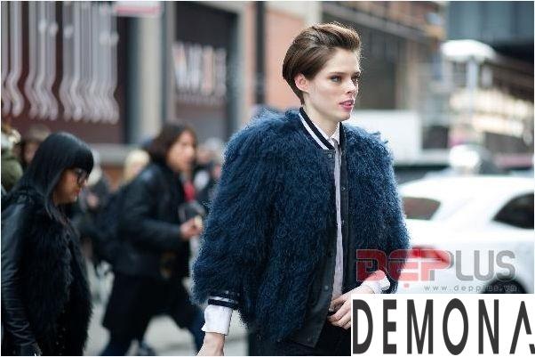 Áo khoác lông thú nữ đẹp thu đông 2021 - 2022 thời trang dạo phố phần 2