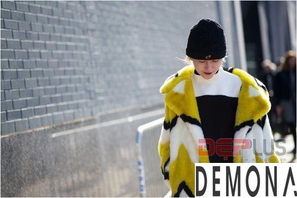 Áo khoác lông thú nữ đẹp thu đông 2021 - 2022 thời trang dạo phố phần 3