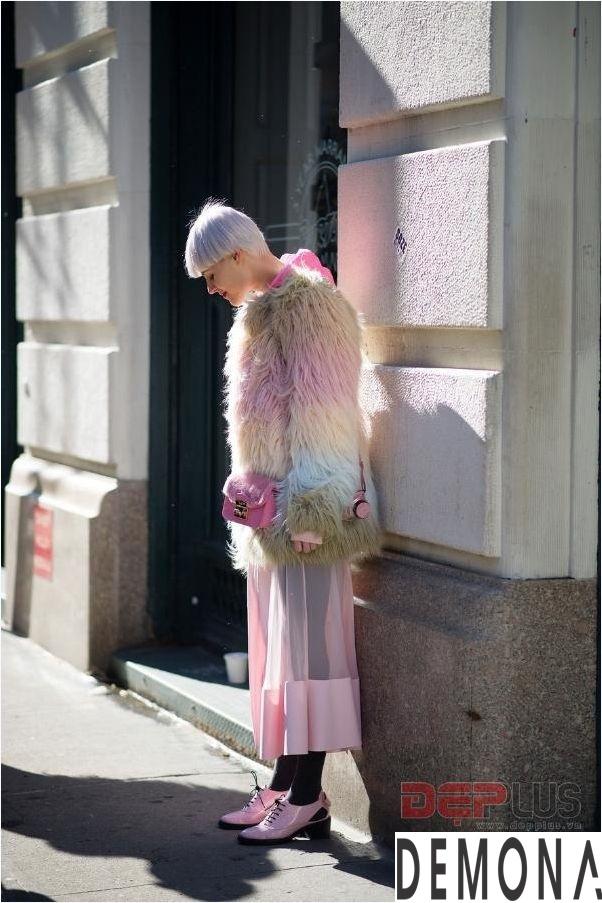 Áo khoác lông thú nữ đẹp thu đông 2021 - 2022 thời trang dạo phố phần 4