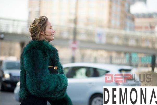 Áo khoác lông thú nữ đẹp thu đông 2021 - 2022 thời trang dạo phố phần 5