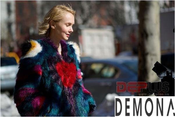 Áo khoác lông thú nữ đẹp thu đông 2021 - 2022 thời trang dạo phố phần 9
