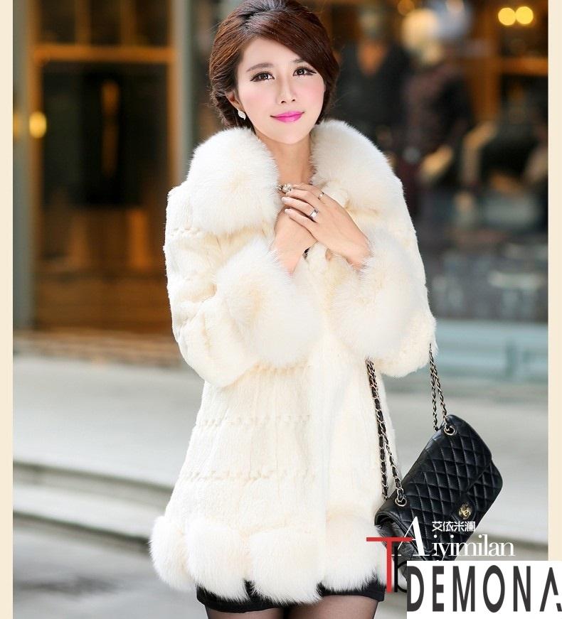 Áo khoác lông trắng nữ đẹp thu đông 2019 – 2021 duyên dáng ấm áp phần 1