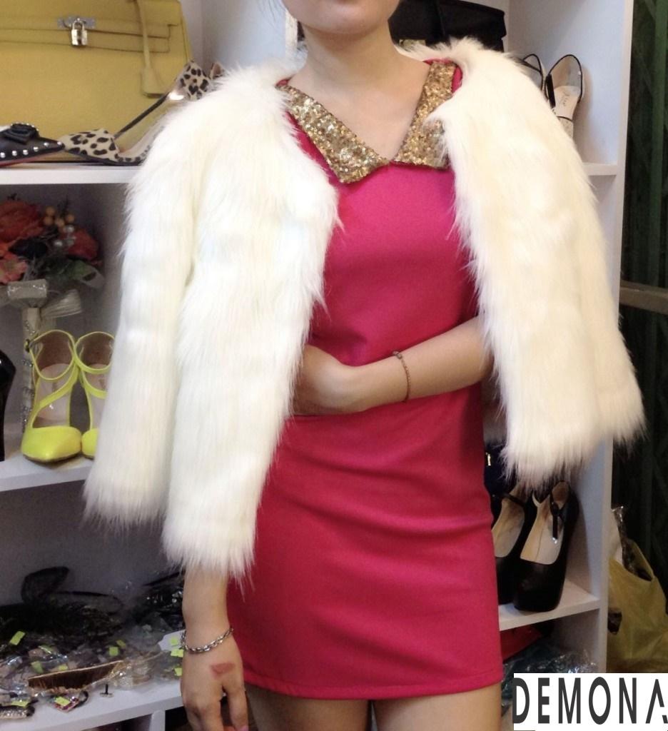 Áo khoác lông trắng nữ đẹp thu đông 2019 – 2021 duyên dáng ấm áp phần 11
