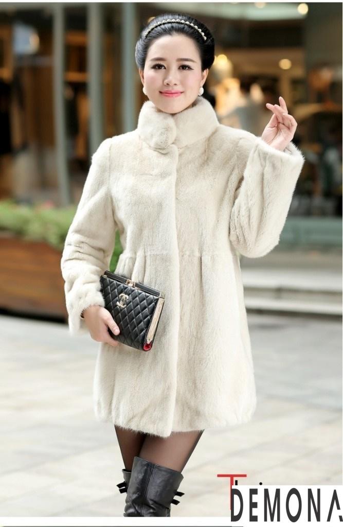 Áo khoác lông trắng nữ đẹp thu đông 2019 – 2021 duyên dáng ấm áp phần 2