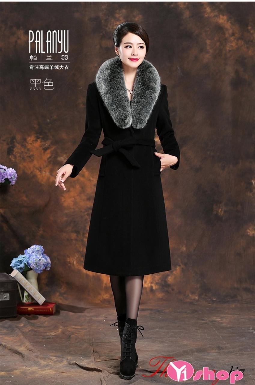 Áo khoác măng tô nữ dáng dài đẹp phong cách thời thượng nhất thu đông 2019