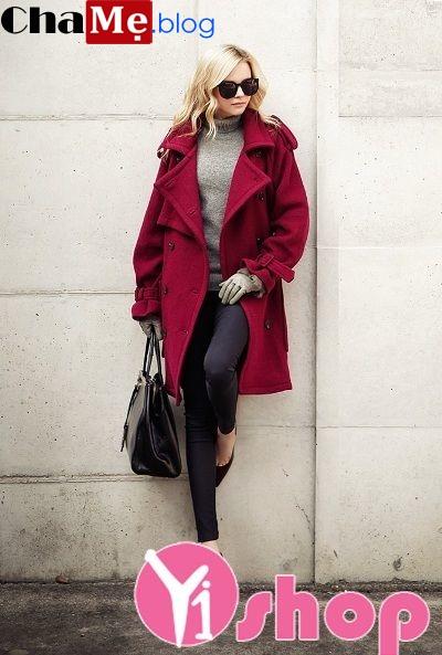 Áo khoác măng tô nữ đẹp đông 2021 - 2022 cho nàng công sở rạng rỡ