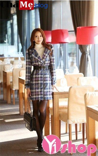 Áo khoác măng tô nữ Hàn Quốc đẹp cá tính thời thượng đông 2021 - 2022