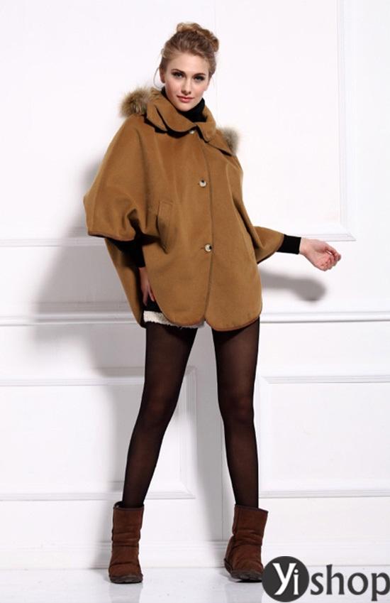 Áo khoác nữ cape coat đẹp thu đông 2021 - 2022 cho cô nàng sành thời trang phần 10
