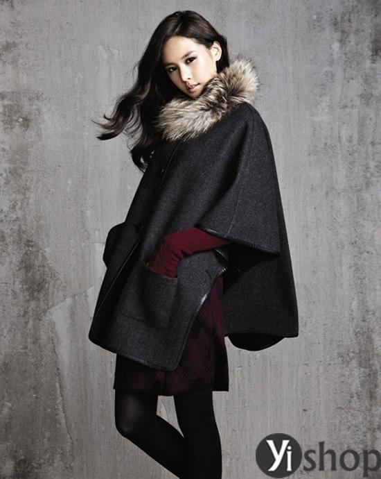Áo khoác nữ cape coat đẹp thu đông 2021 - 2022 cho cô nàng sành thời trang phần 11