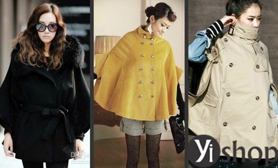 Áo khoác nữ cape coat đẹp thu đông 2021 - 2022 cho cô nàng sành thời trang phần 12