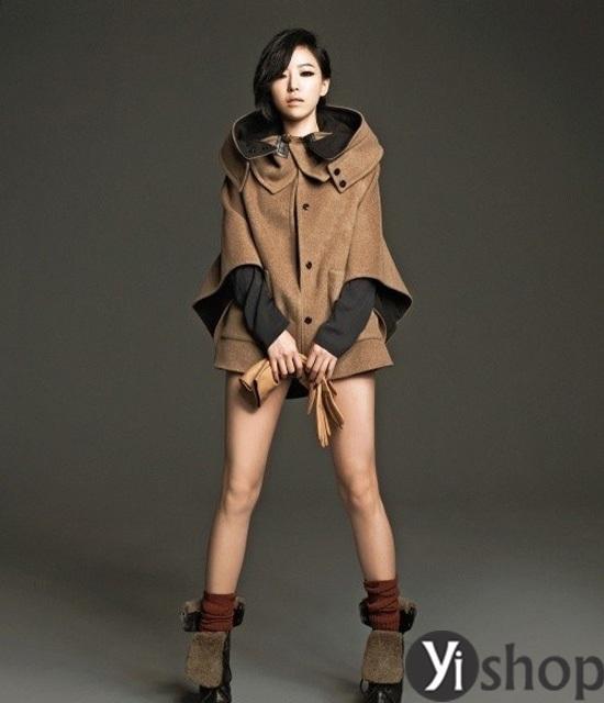 Áo khoác nữ cape coat đẹp thu đông 2021 - 2022 cho cô nàng sành thời trang phần 13