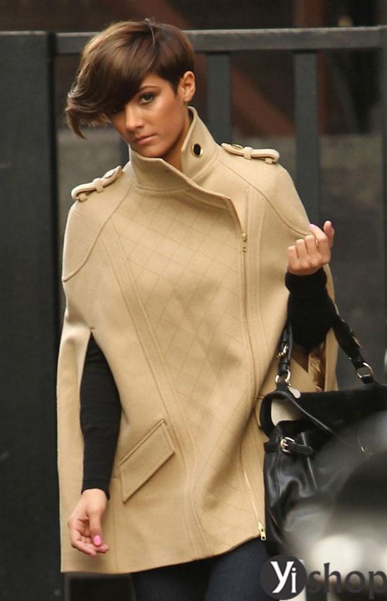 Áo khoác nữ cape coat đẹp thu đông 2021 - 2022 cho cô nàng sành thời trang phần 2
