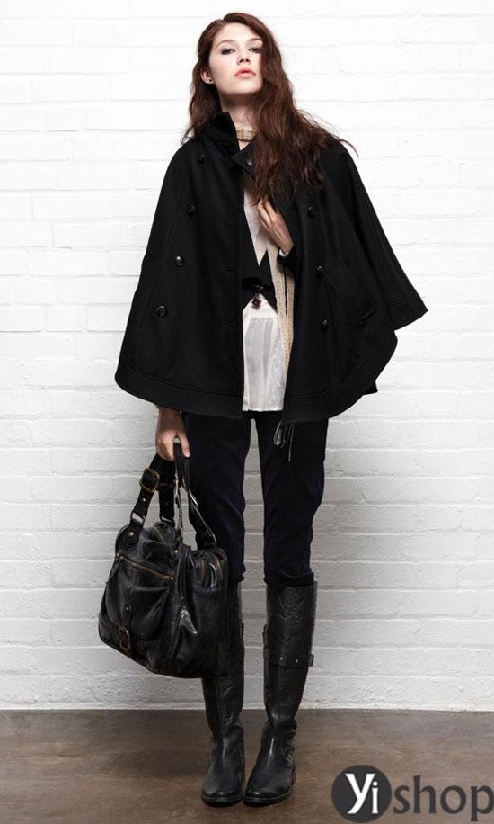 Áo khoác nữ cape coat đẹp thu đông 2021 - 2022 cho cô nàng sành thời trang phần 3