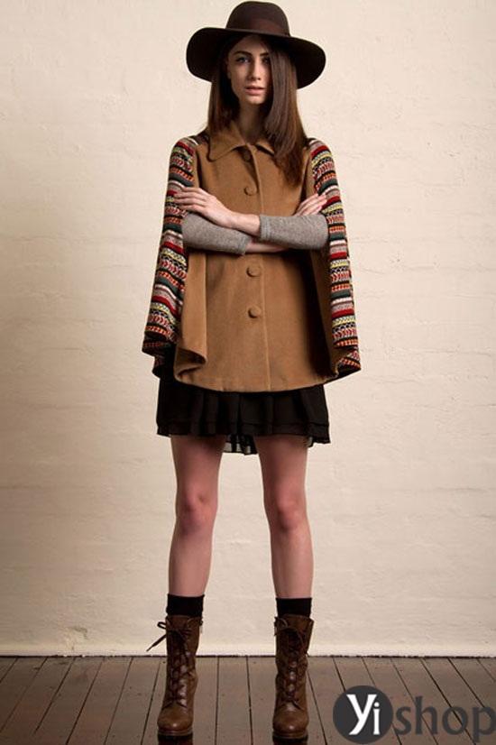 Áo khoác nữ cape coat đẹp thu đông 2021 - 2022 cho cô nàng sành thời trang phần 5