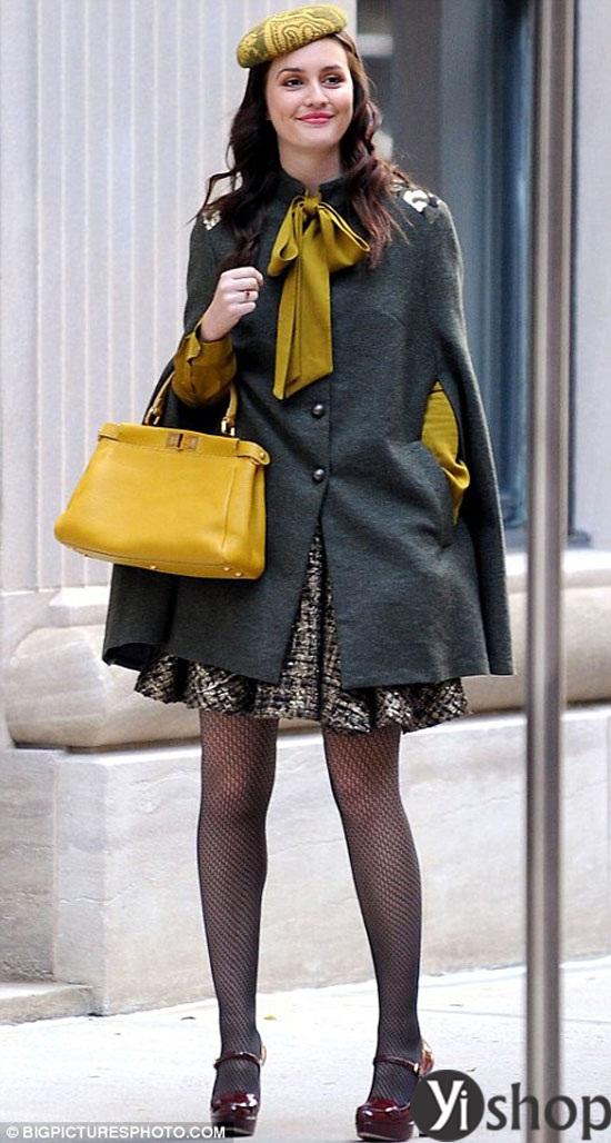 Áo khoác nữ cape coat đẹp thu đông 2021 - 2022 cho cô nàng sành thời trang phần 6