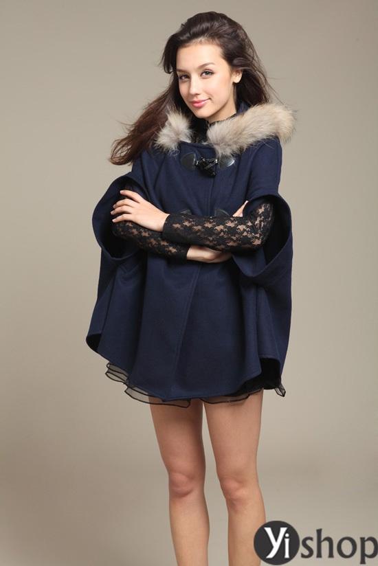 Áo khoác nữ cape coat đẹp thu đông 2021 - 2022 cho cô nàng sành thời trang phần 9