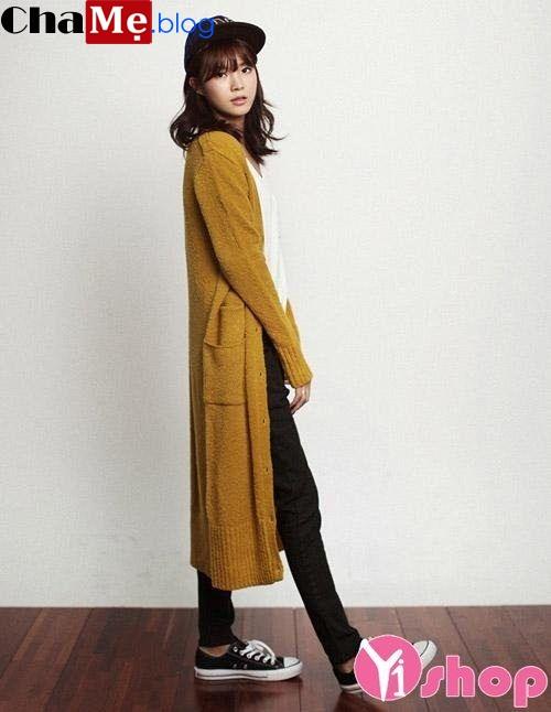 Áo khoác nữ cardigan mỏng đẹp thời trang đông 2021 - 2022