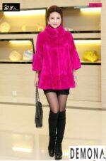 Áo khoác nữ cổ lông đẹp thu đông 2021 – 2022 trẻ trung ngày lạnh