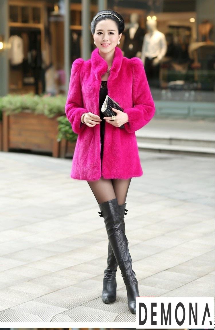 Áo khoác nữ cổ lông đẹp thu đông 2021 - 2022 trẻ trung ngày lạnh phần 10