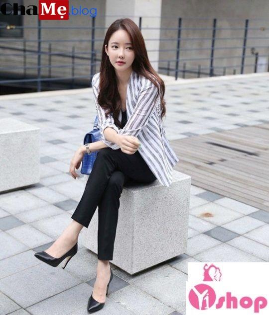 Áo khoác nữ công sở đẹp Hàn Quốc ấm áp không lạnh đông 2021 - 2022