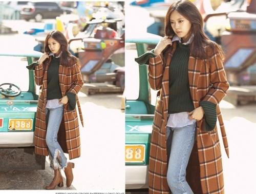 Áo khoác nữ dáng dài đẹp cho nàng công sở ấm áp ngày lạnh phần 3
