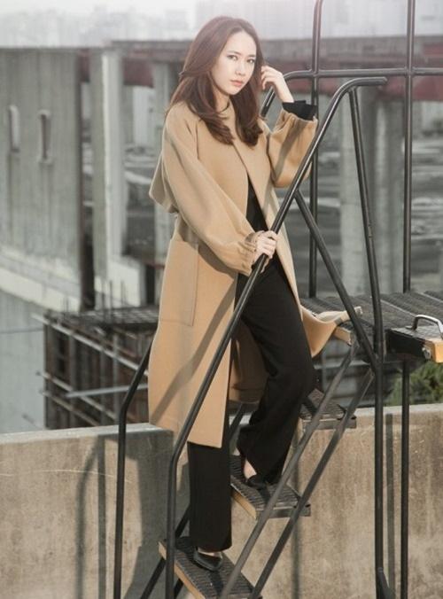 Áo khoác nữ dáng dài đẹp cho nàng công sở ấm áp ngày lạnh phần 7