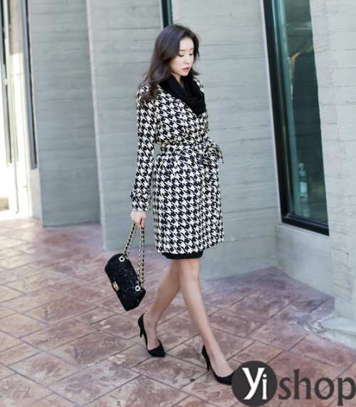 Áo khoác nữ dáng dài đẹp khiến giới trẻ Hàn Quốc mê mệt thu đông 2021 - 2022
