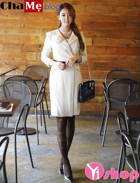 Áo khoác nữ dáng dài đẹp không lạnh ấm áp tới công sở thu đông 2021 - 2022