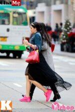Áo khoác nữ dáng dài đẹp phong cách street style đông 2021 – 2022