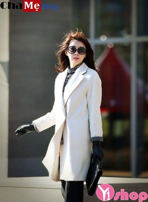 Áo khoác dáng dài nữ đẹp công sở sành điệu ấm áp đông 2021 - 2022