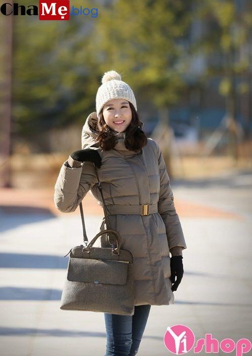 Áo khoác dáng dài nữ đẹp Hàn Quốc cho nàng công sở ấm áp đông 2021 - 2022