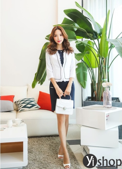 Áo khoác nữ dáng ngắn đẹp thanh lịch cho quý cô công sở U30 phần 1