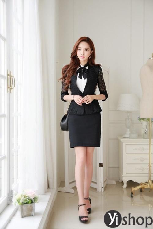 Áo khoác nữ dáng ngắn đẹp thanh lịch cho quý cô công sở U30 phần 4