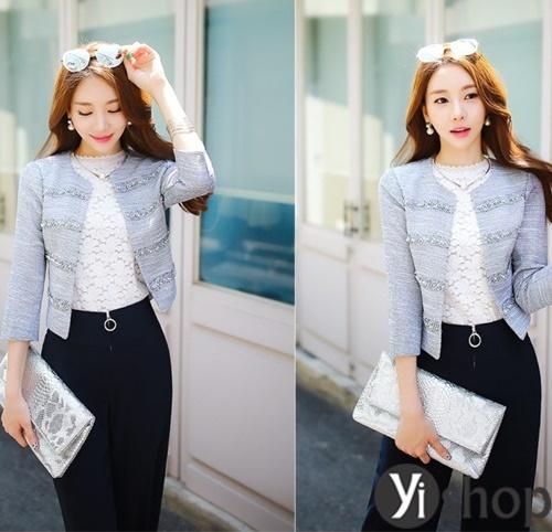Áo khoác nữ dáng ngắn đẹp thanh lịch cho quý cô công sở U30 phần 8