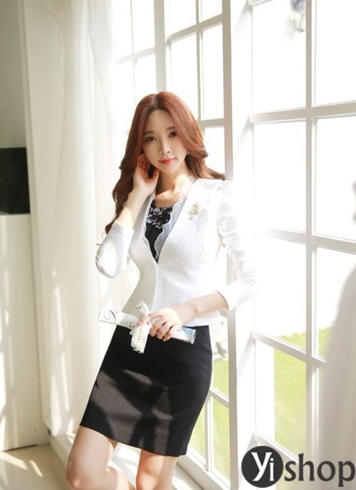 Áo khoác nữ dáng ngắn đẹp thanh lịch cho quý cô công sở U30 phần 9