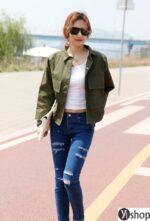 Áo khoác nữ dáng ngắn đẹp thời trang thu đông 2021 – 2022 không bị lỗi mốt