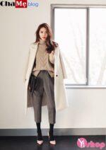 Áo khoác nữ Hàn Quốc đẹp đông 2021 – 2022 cho nàng vai ngang tự tin