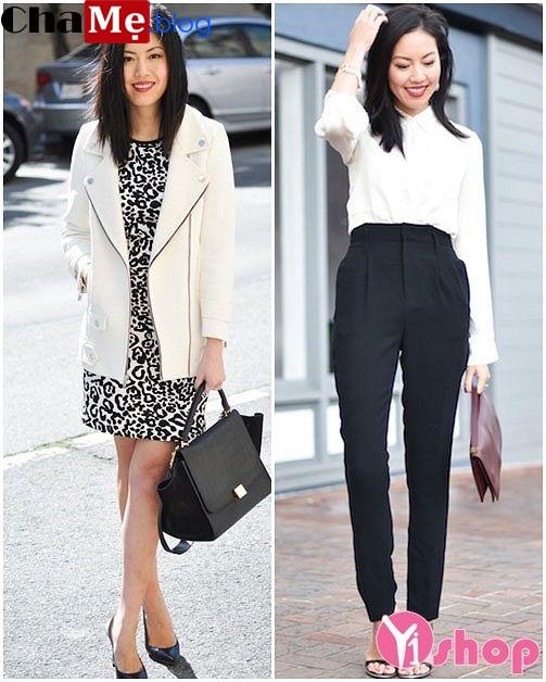 Áo khoác nữ Hàn Quốc đẹp đông 2021 - 2022 cho nàng vai ngang tự tin